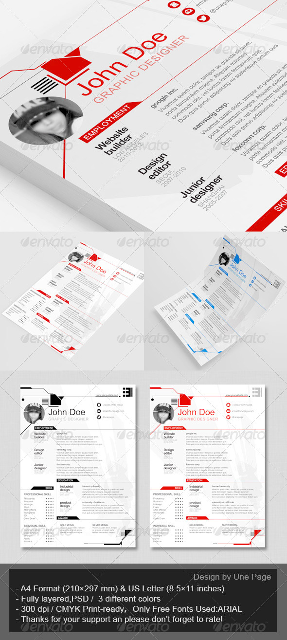 GraphicRiver Resume CV Template 6291719