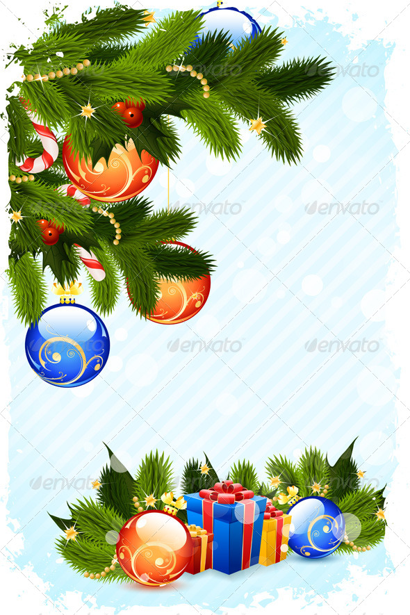 GraphicRiver Grungy Christmas Card 6292409