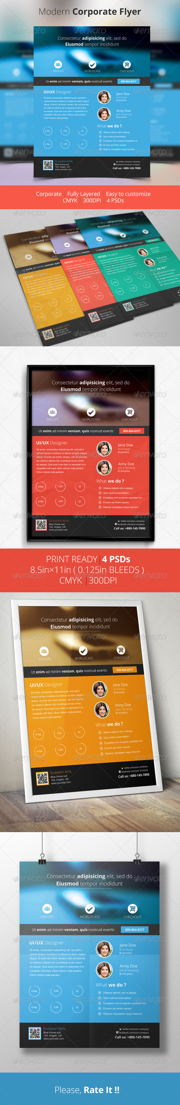 GraphicRiver Modern Corporate Flyer 6292687
