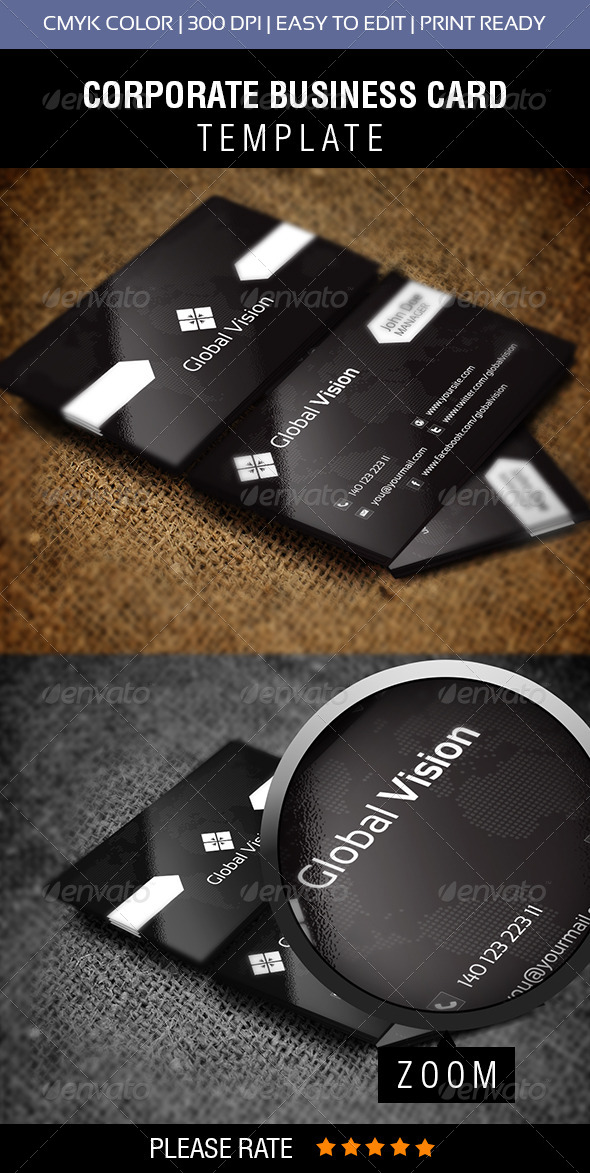 GraphicRiver Global Vision Business Card 6292825