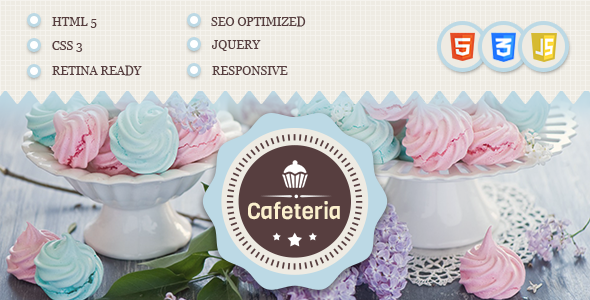Cafeteria Responsive HTML Template