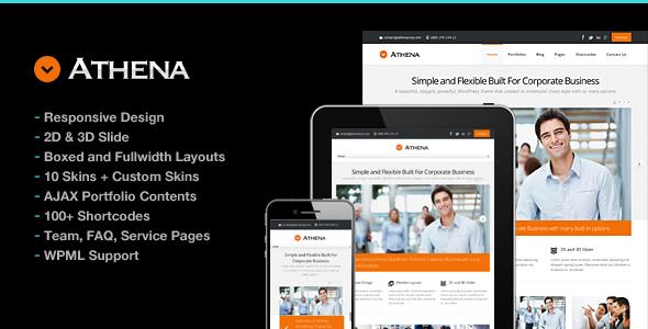Athena Simple Flexible Corporate Business Theme - Business Corporate
