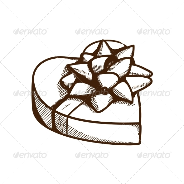 GraphicRiver Present Box with Ribbon and Bow 6292870