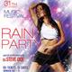 Rain Party Flyer