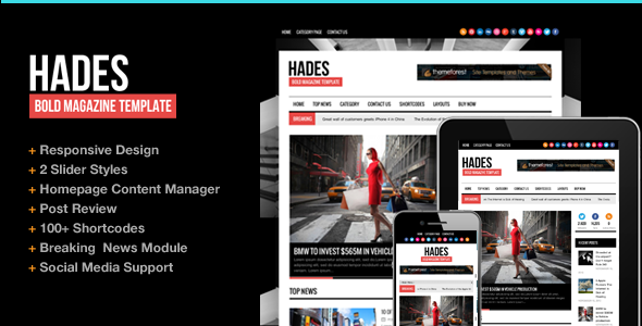 Hades Bold Magazine Newspaper Template - News / Editorial Blog / Magazine