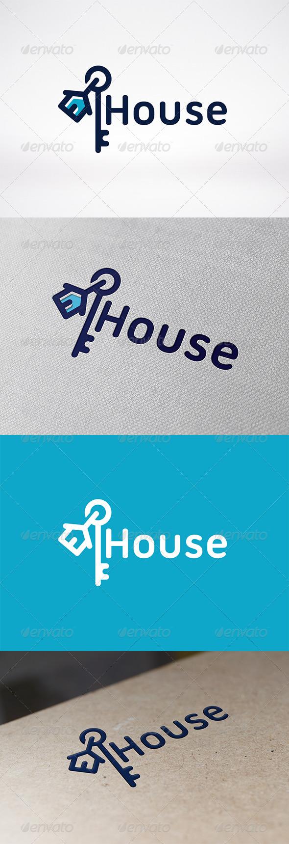 GraphicRiver House Key Logo Template 6293429
