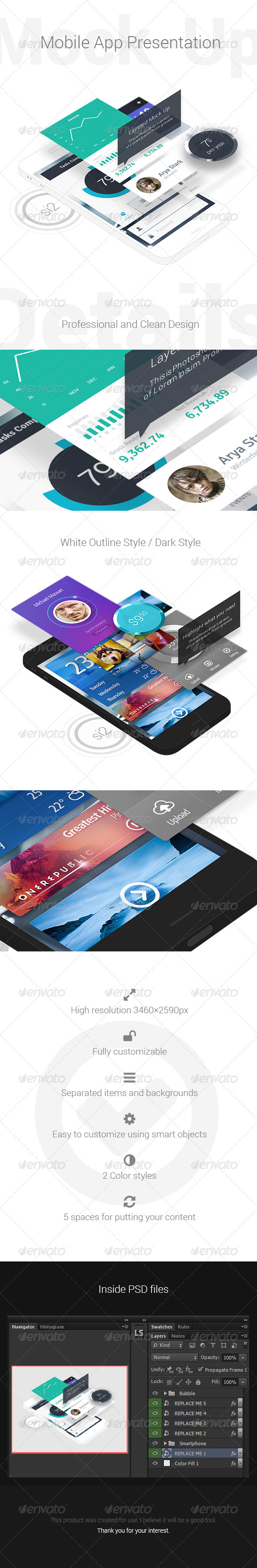 GraphicRiver Mobile App Presentation Mock-Up 6269679