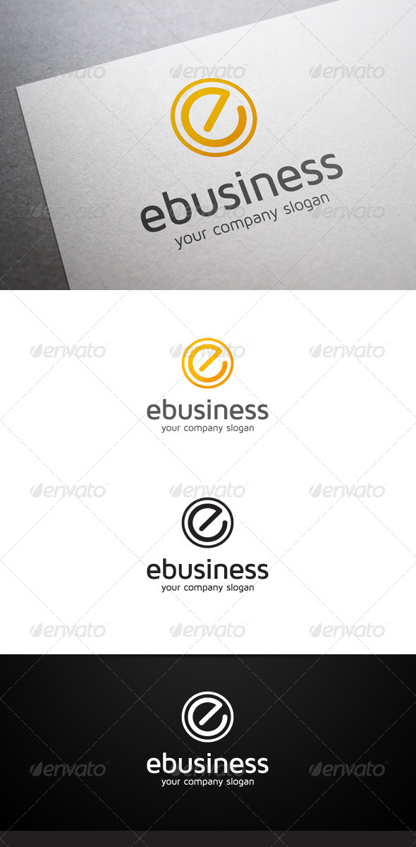GraphicRiver E Business Logo 6293760
