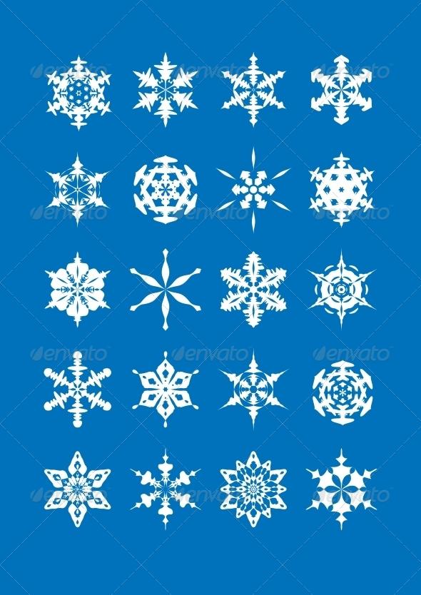 GraphicRiver Snowflake Set 6293762
