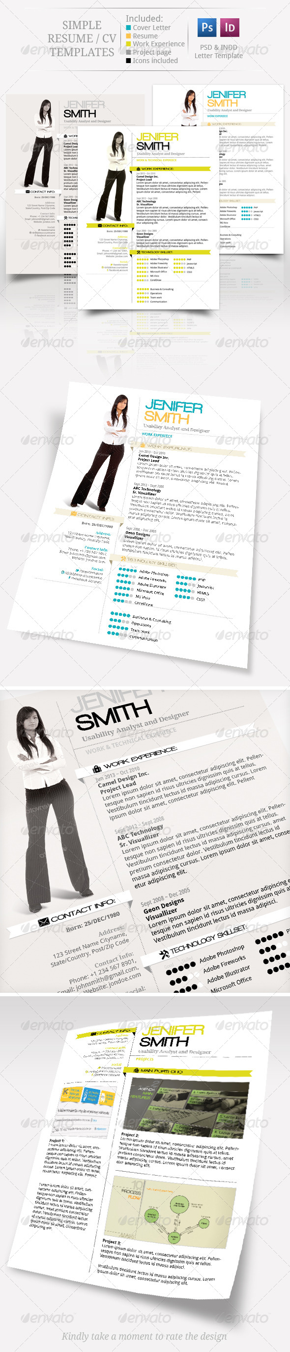 GraphicRiver Simple CV Resume Set 6293995