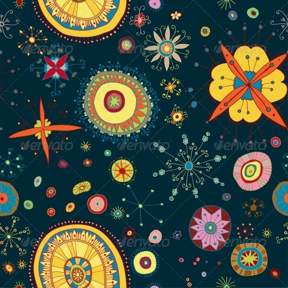 GraphicRiver Ornate Floral Seamless Pattern 6293992