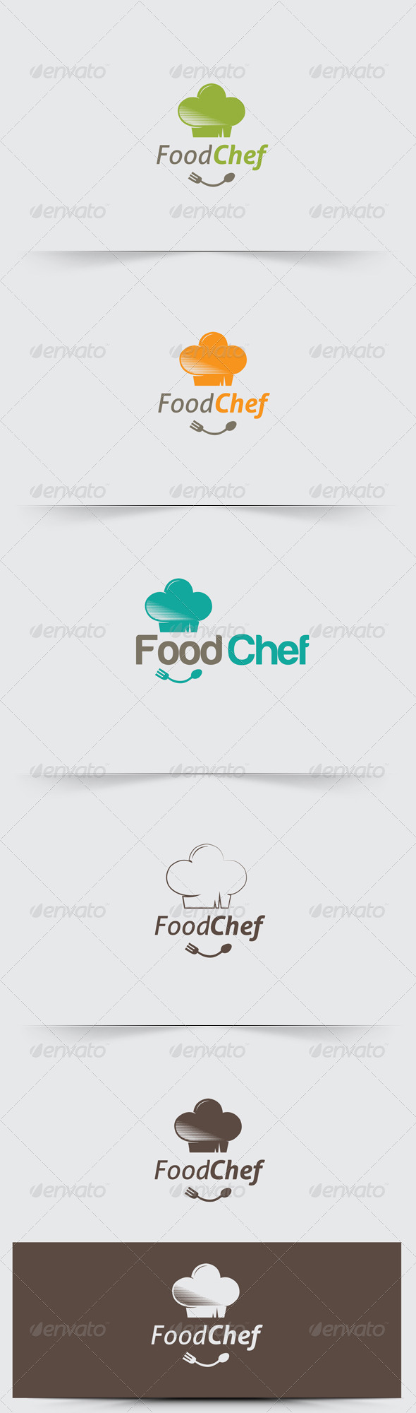 GraphicRiver Modern Food Chef Logo Template 6294275