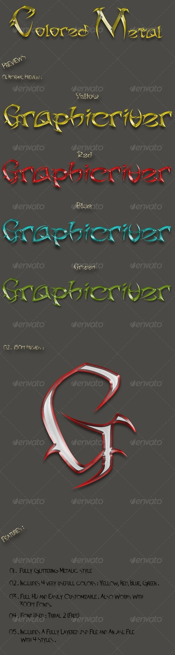 GraphicRiver Colored Metal Vol.1 6294719