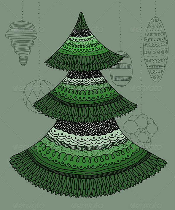 GraphicRiver Decorative Christmas Tree 6294965