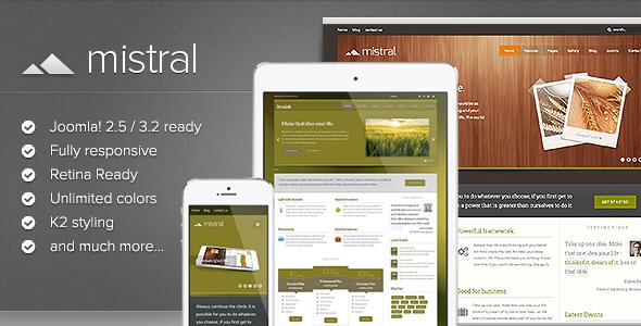 ThemeForest Mistral Responsive Multi-purpose Joomla Template 6295254