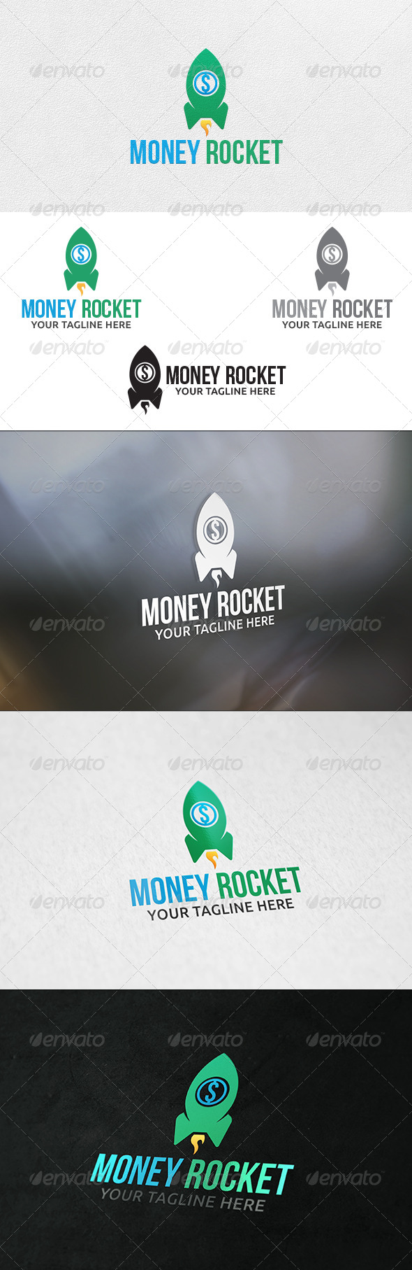 GraphicRiver Money Rocket Logo Template 6295392