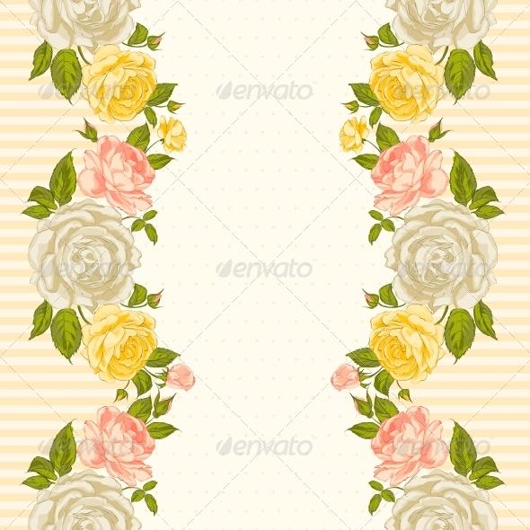 GraphicRiver Rose Frame Invitation Card 6295410