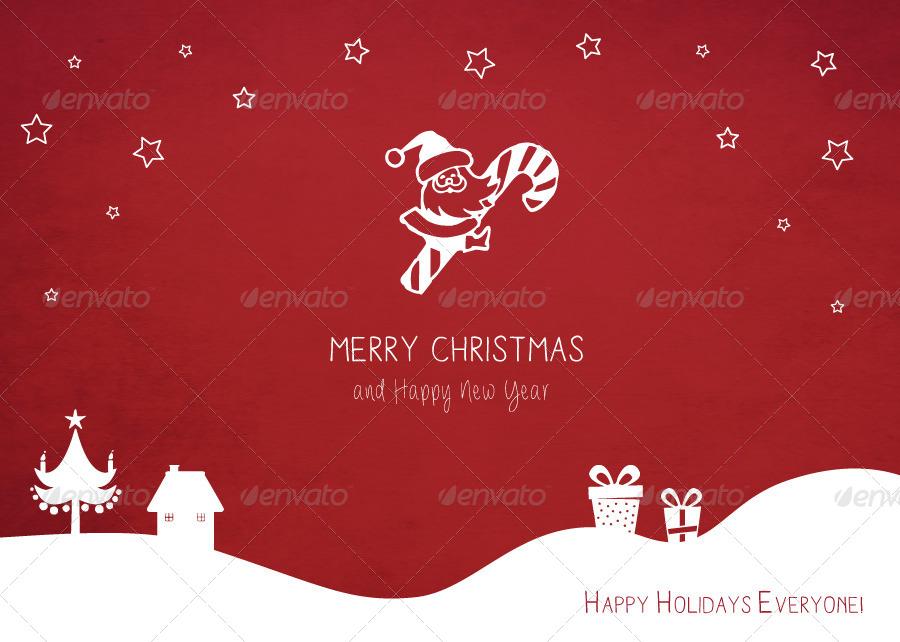 Retro Christmas Card Invites by arted – Christmas Card Invites