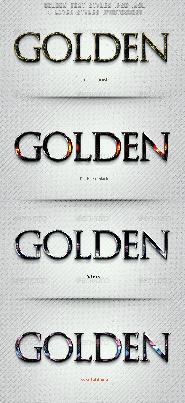 GraphicRiver Golden Text Styles 6273765