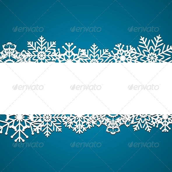 GraphicRiver Christmas Snowflakes Background 6295616