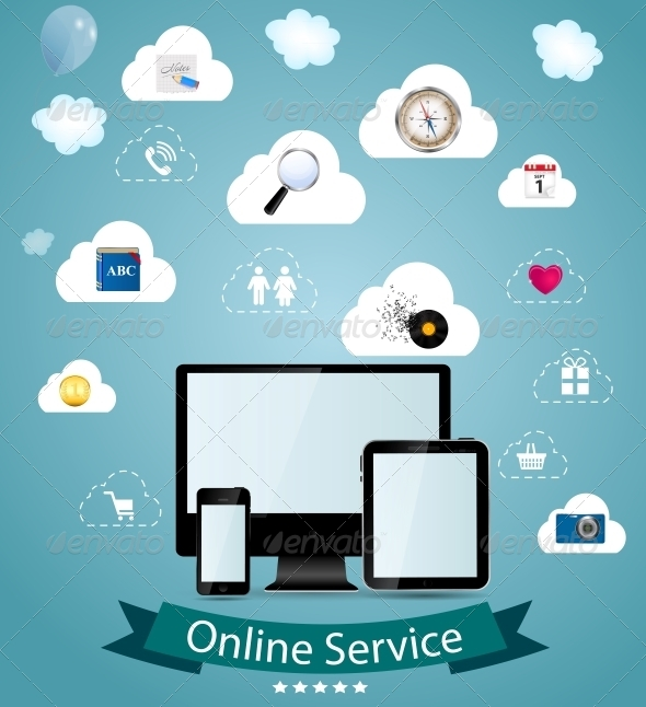 Online Service Concept Vector Illustration