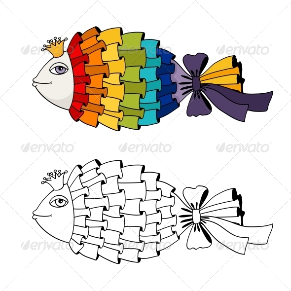 GraphicRiver Rainbow Fish Coloring 6295856