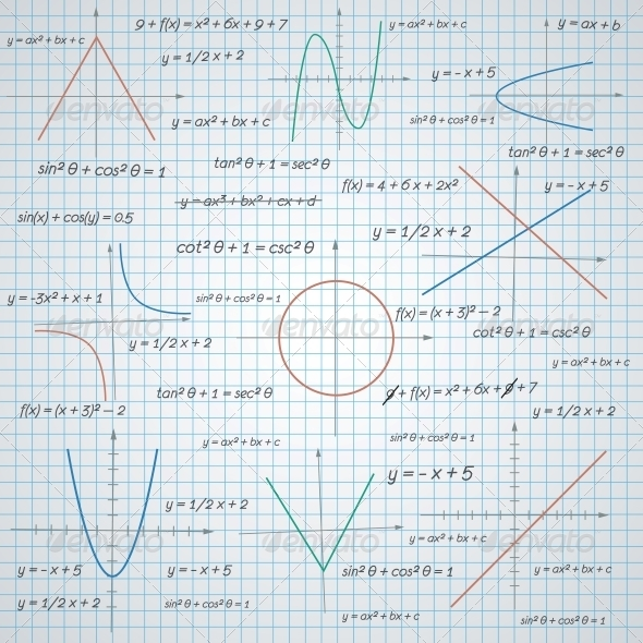 GraphicRiver Mathematics Paper Background 6295878