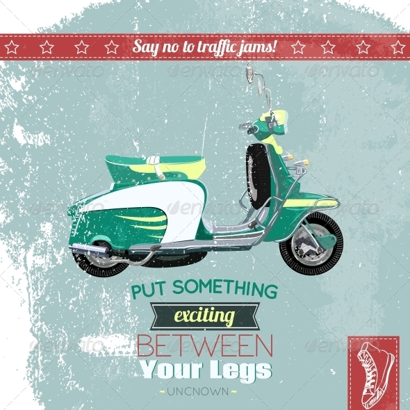 GraphicRiver Hipster Scooter Poster 6295886