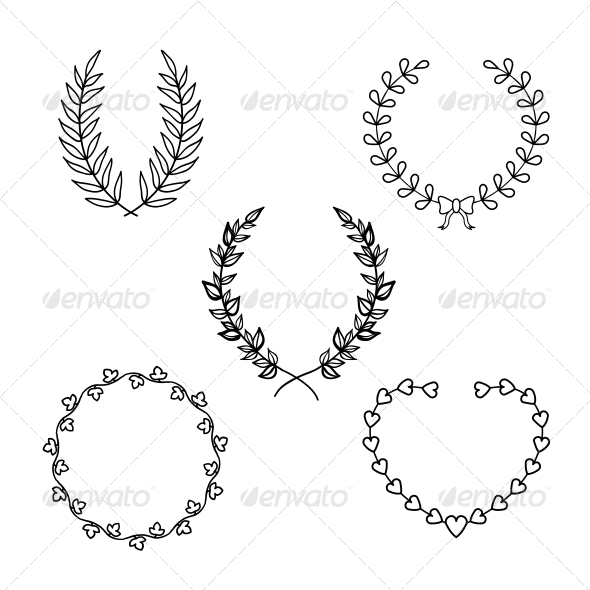 GraphicRiver Calligraphic Wreath 6295912