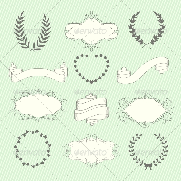 GraphicRiver Wedding Elements Set 6295917
