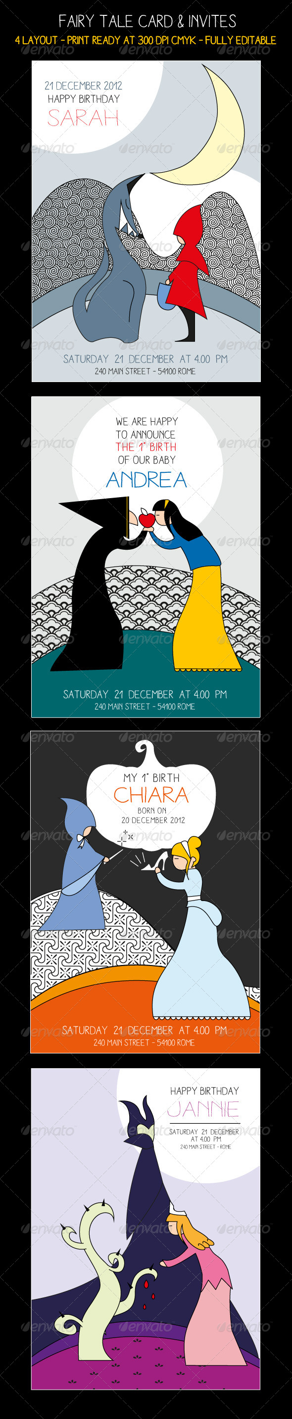 GraphicRiver Fairy Tale Card & Invites 6295962