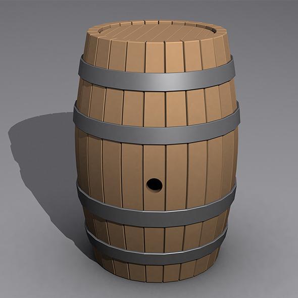3DOcean Realistic Barrel 6295995