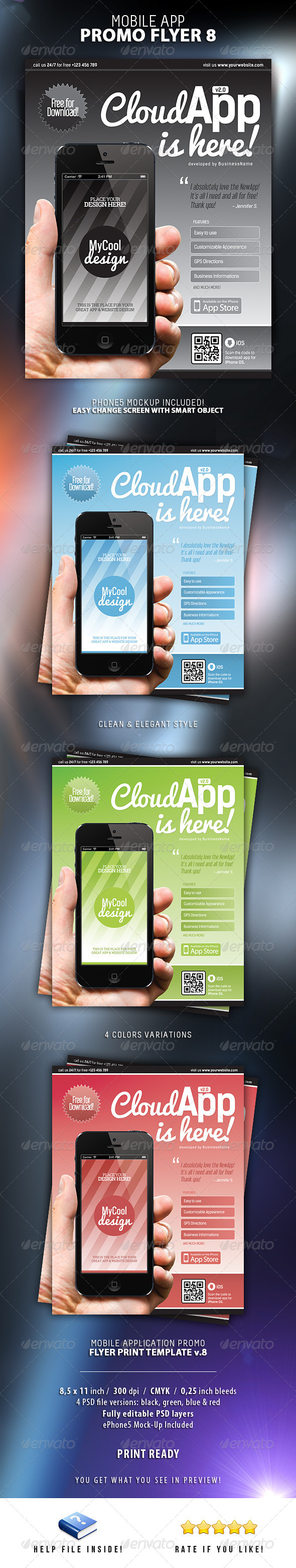 GraphicRiver Mobile App Flyers 8 6296211