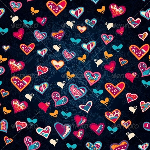 GraphicRiver Seamless Heart Pattern for Valentine s Day 6296421