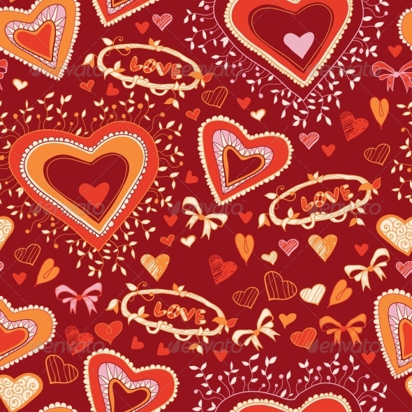 GraphicRiver Love Heart Seamless Pattern 6296432