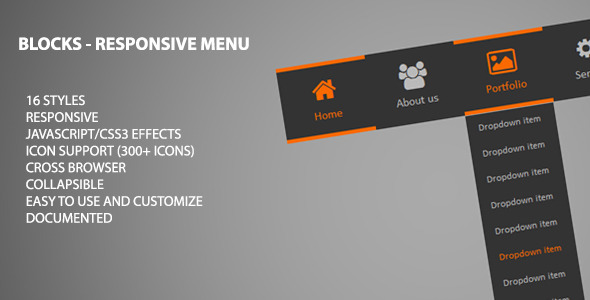Blocks - Responsive Menu - CodeCanyon Item for Sale