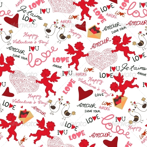 GraphicRiver Seamless Valentine Wallpaper 6296611