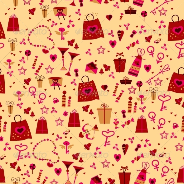 GraphicRiver Seamless Love Elements in Pattern 6296711