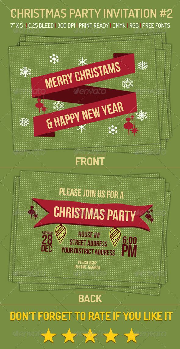 GraphicRiver Christmas Party Invitation 2 6296756