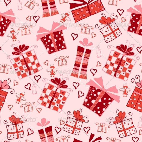 GraphicRiver Seamless Pattern with Gift Boxes 6296758
