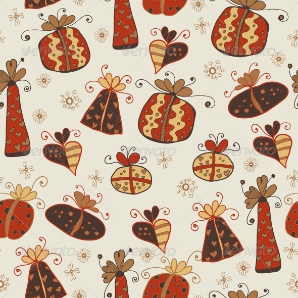 GraphicRiver Seamless Pattern with Gifts 6296759