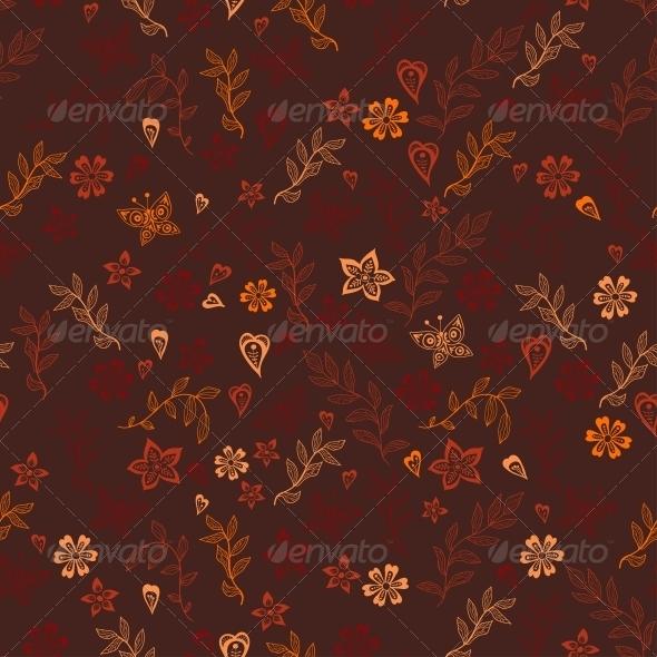 GraphicRiver Flowers Doodle Floral Texture 6297130