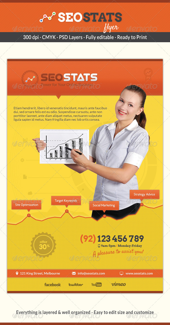 GraphicRiver Seo Stats Flyer 6297154