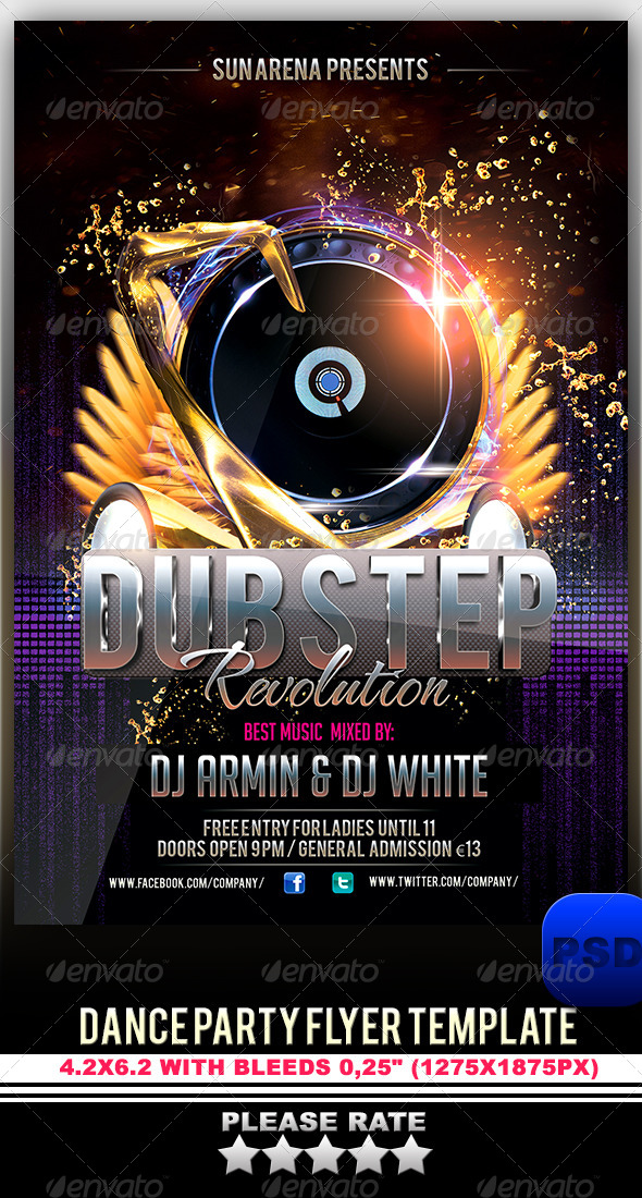 GraphicRiver Dance Party Flyer Template 6297176