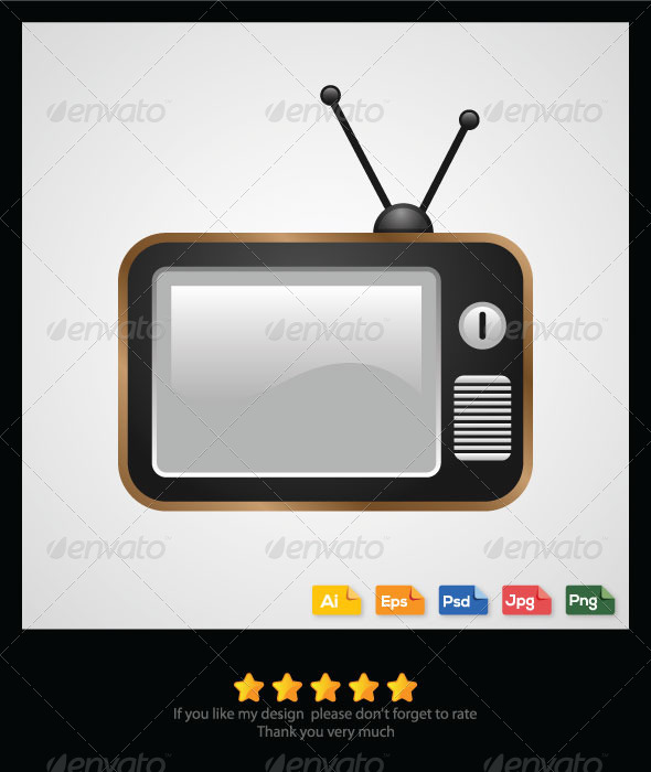 GraphicRiver Old Television Vector 6298200