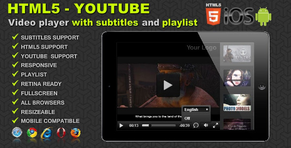 CodeCanyon HTML5 Youtube Video Gallery with Subtitles 6247972
