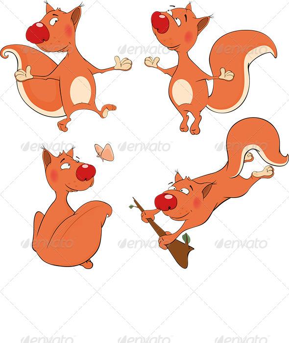 GraphicRiver The Squirrels Clip Art 6299282