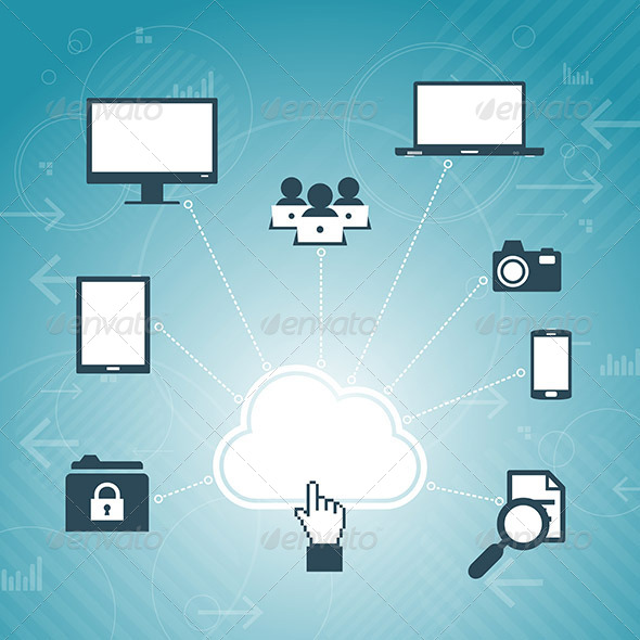 GraphicRiver Cloud Access Network 6299404