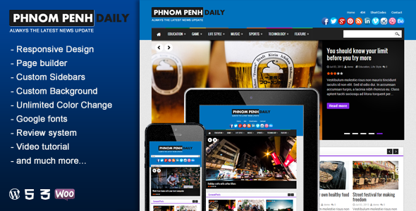 Phnom Penh Daily - WordPress Blog & Magazine Theme