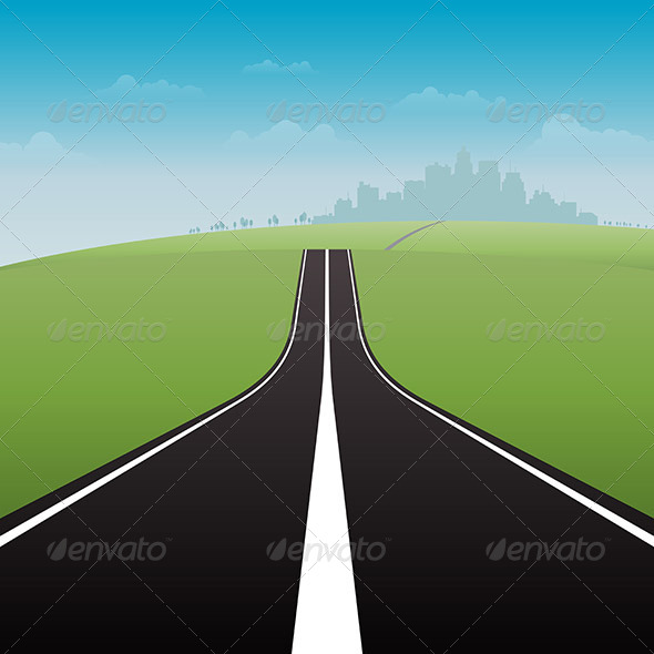 GraphicRiver Road to City 6299509